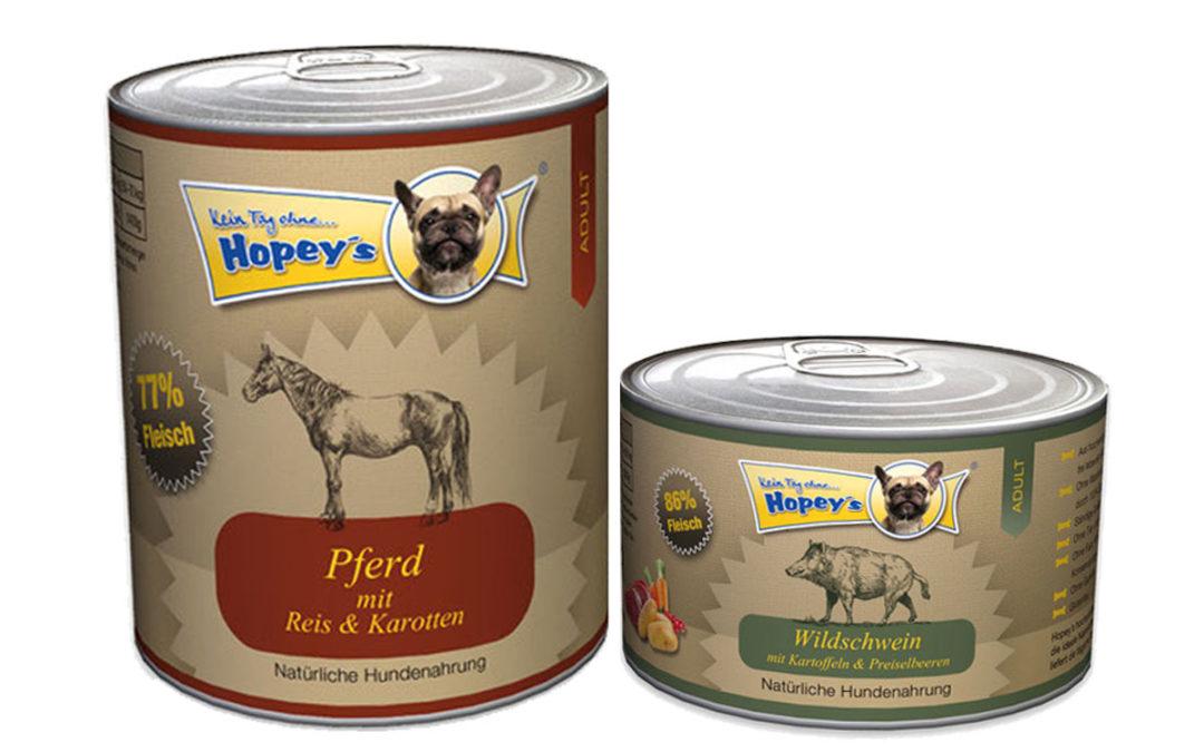 Hundefutter im Test: Dosenfutter Hopey's unter der Lupe [Werbung]